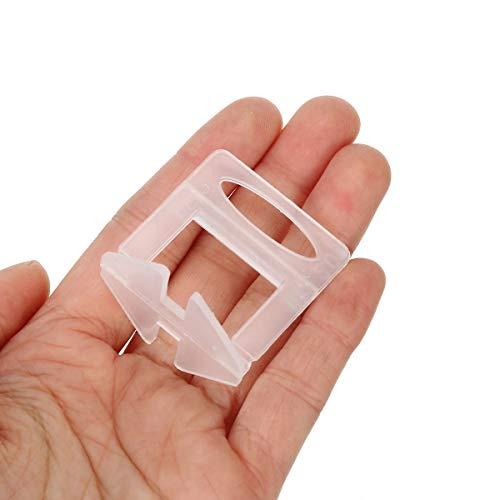 GOZAR 100Pcs Plástico Cerámico Baldosas Nivelación Sistema Clips Plier Embaldosado Nivelador de Azulejos Herramienta Kit Pared Suelo Baldosa-1.0mm