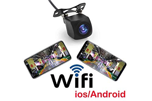Telecamera Retromarcia Wireless Wifi Android iOS Visione Notturna Impermeabile IP67 12V Auto