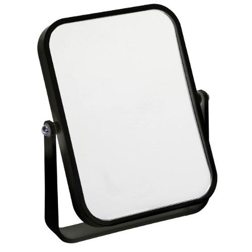 Fancy Metal Goods Miroir sur pied de salle de bain ou de voyage, couleur noire