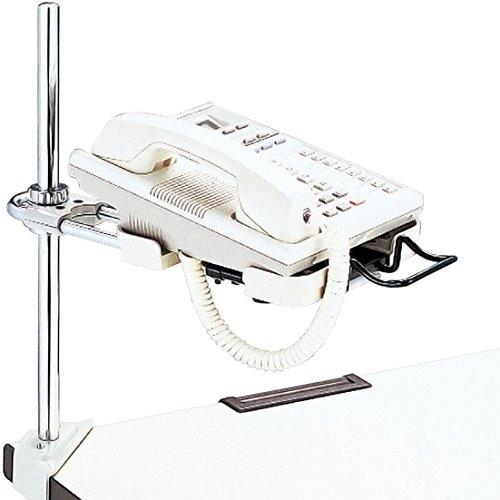 プラス 電話機台 コーナークランプ スライド機構付 受皿サイズ可変 皿面H8~40cm 22-319
