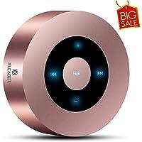 XLEADER SoundAngel (2 Gen) Altavoz Bluetooth Táctil de 5W con Estuche Impermeable IPX7, 15H música, Sonido de Cristal, Mini Altavoces Portátil Bluetooth Premium para iPhone iPad Regalo Ducha, oro rosa