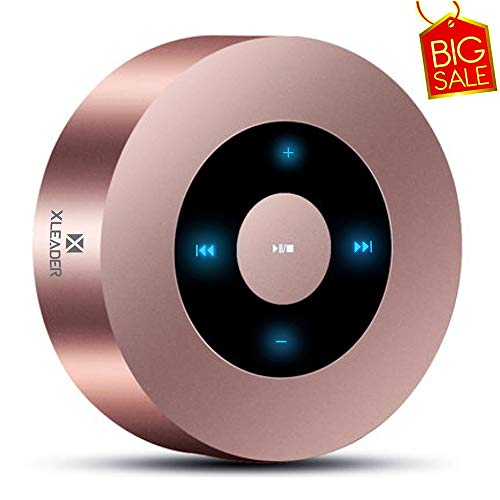XLEADER SoundAngel A8 (2. Gen) Touch Tragbarer Bluetooth Lautsprecher von Leaderway US mit 5W HD Sound / 15H Spielzeit, Rosé Gold [Offizielle Tragbarer Fall Eingeschlossen]