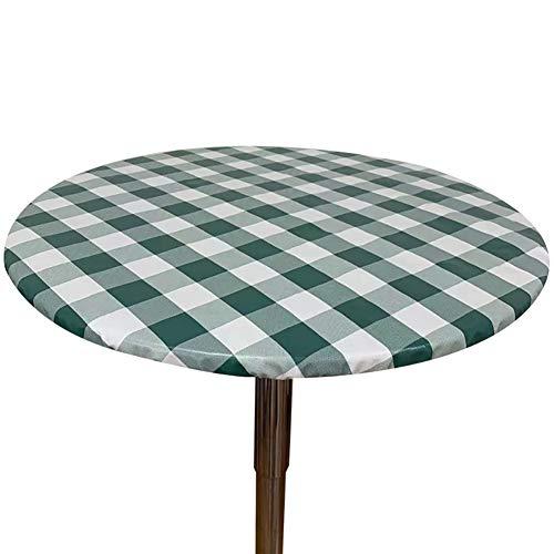 Cozomiz Percalle Copritavolo sotto Tovaglia Rotonda Rettangolare Tavolino Impermeabile Antimacchia Kitchen Decoration per Tavola da Pranzo 60cm Taglio Aderente Rotondo Verde