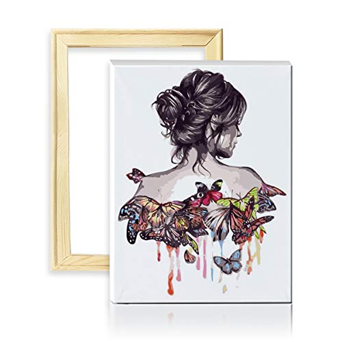 decalmile Pintura por Número de Kits DIY Pintura al Óleo para Adultos...