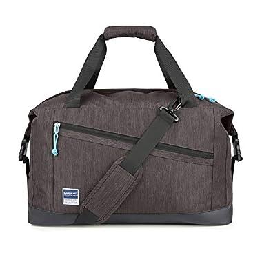 BAGSMART Travel Duffle Bag Expandable Weekender Bag Anti-Theft Overnight Bag Carry-on Shoulder Bag with Shoe Bag, 40L