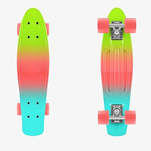 Eurowebb Skateboard, Mehrfarbig – Skateboard, modernes und originelles Design, zweifarbig