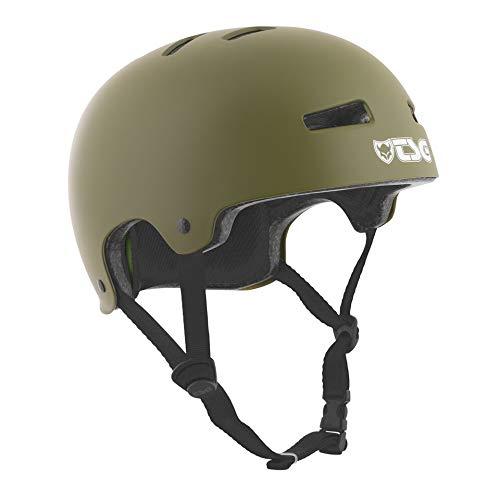 Buy TSG Evolution Skate & Bike Helmet in Satin Olive w/Snug Fit & Triple Cert. for Skateboarding, Cy...