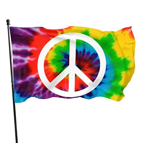 2056 pantalones Salomao bandera de la paz tie-Dye de 3 x 5 pies para decoración de jardín al aire libre, bandera ligera, resistente a la decoloración UV