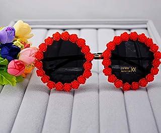 TYJYY Sunglasses Style D'Été Femmes Lunettes De Soleil Bohême Petite Fleur Boutique Lunettes De Soleil FemmeVacances Pa...