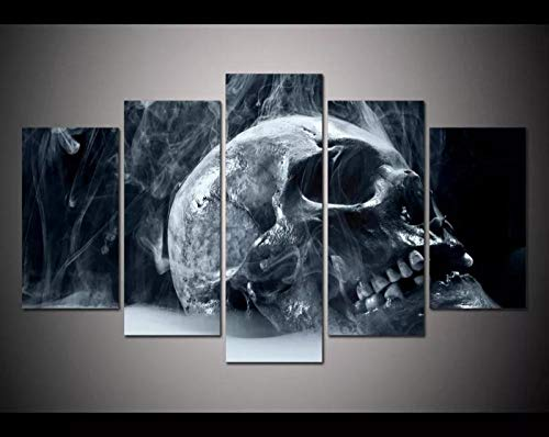 YOUQIANREN Bilder New Yorker Architektur 5 Teilig Leinwandbilder Wandbilder Dekoration Leinwand Poster Wandkunst Kunstdruck Wand Deko Wohnzimmer Gerahmtes/100X55cm