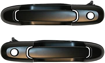 Femitu Front Black Outside Outer Exterior Door Handle with Keyhole Pair Set Left Driver AND Right Passenger Side Replace for 1998-2003 Toyota Sienna