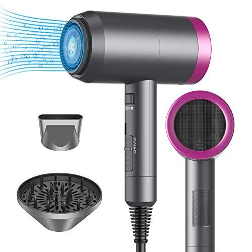 MuseDiva Fön Ionen Haartrockner mit Ionen konstante Temperatur Haarpflege und SPA 1800W Watt, mit Diffusor und Stylingdüsen, Klein & Leise,Leichter ideal für unterwegs und Familien