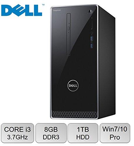 Newest Dell Inspiron 3650 High Performance Desktop ( (2017 Edition), Intel Core i3-6100 Processor 3.70 GHz, 8GB RAM, 1TB 7200RPM HDD, DVD +/- RW, WIFI, Bluetooth, HDMI, Windows 7 / 10 Professional