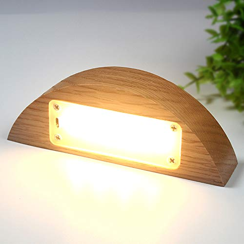 Preisvergleich Produktbild ZKLT Massivholz Führte Nachtlicht Kreative Geschenk Neue Exotische Elektronische Produkte USB-Touch-Ladeschreibtischlampe (Halbe Ellipse)