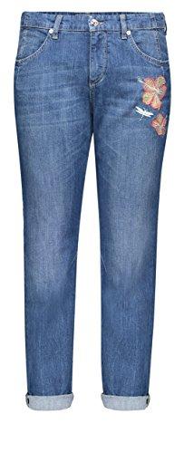 MAC Damen Boyfriend Jeans Sexy Carrot, Blau (Mid Blue Cool Wash D507), W38 (Herstellergröße: 38/OL)