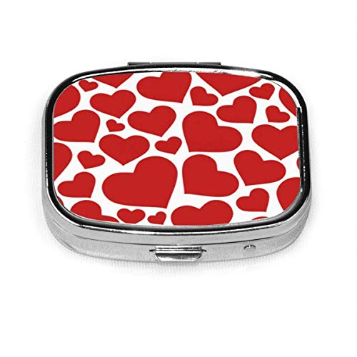 Corazones de amor de patrones sin fisuras Fondo de San Valentín Fondo de arte abstracto Banner Caja de pastillas cuadrada Cajas decorativas Pastillero