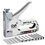 WETOLS Staple Gun, Heavy Duty Staple Gun, 3 in 1 Manual Nail Gun with 2400 Staples(D, U and T-Type), for Upholstery,...