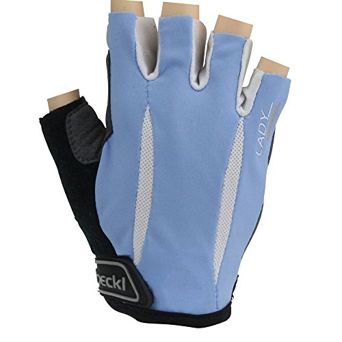 Roeckl guantes de ciclismo MTB verano corto del dedo Señora Gel Azul-Blanco...