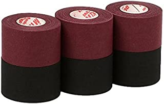 Mueller Athletic Tape Sports Tape, Maroon and Black 6 rolls