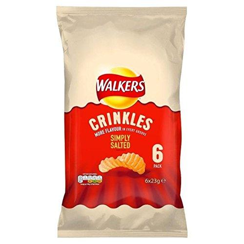 Marcheurs Crinkles Mer Salée Chips 23G X 6 Par Paquet - Paquet de 6