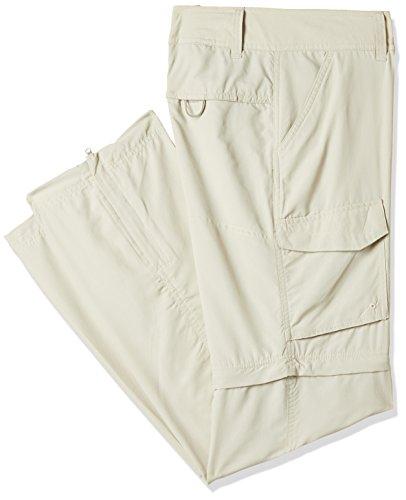 Columbia Mujer Pantalón Convertible, Silver Ridge, Beige (Fossil), Talla: 40