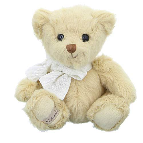 Bukowski Teddybär Little Teddy Hellbraun mit Schleife 15 cm Plüschteddybär