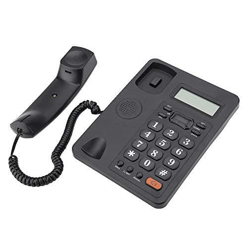 DAUERHAFT Teléfono con Cable, teléfono Fijo de Oficina con Cable, teléfono Fijo con Pantalla de identificación de Llamadas, teléfono Fijo con línea básica, teléfono con Cable Trimline básico