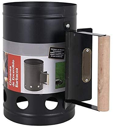 Encendedor de carbón para barbacoa Para encender la parrilla Arrancador Chimenea Chimenea de 27 x 17 cm. Chimenea de encendido Parrilla (NEGRO)