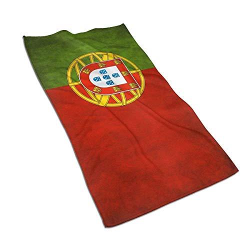 WH-CLA Toallas De Microfibra,Bandera Portugal Toallas De Bañobe Poliéster Manta De Baño Superabsornte Toallas De Baño,40x70cm