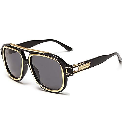 SHEEN KELLY Retro quadratische Sonnenbrille für Männer Frauen übergroße Sonnenbrille Gradient Sonnenbrille
