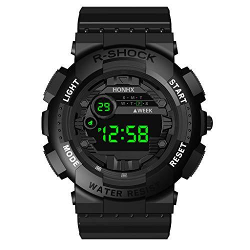 Dtuta Herren Digital Sportuhr Wasserdicht Taktische Uhr mit LED-Hintergrundbeleuchtung Uhr Outdoor Herrenuhr Watches for Men Fitness