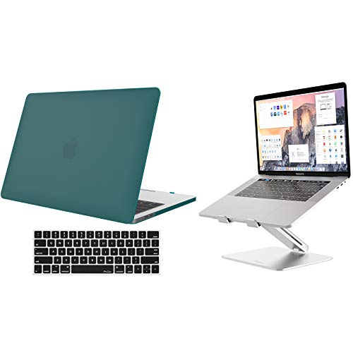 ProCase MacBook Pro 13 Case 2019 2018 2017 2016 Release A2159 A1989 A1706 A1708, Hard Case and Keyboard Cover for MacBook Pro 15' Bundle with Metal Laptop Stand, Ergonomic Aluminum Laptop Holder