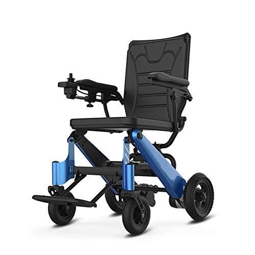 ghjkl Silla de Ruedas Plegable, Silla de Ruedas Ligera eléctrica Plegable for Scooters de Movilidad for los Ancianos y los discapacitados Pueden Subir al avión (Color : 10AH Battery) ⭐