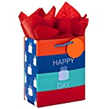 Hallmark 6' Small Gift Bag with Tissue Paper for Birthdays (Happy Cake Day)