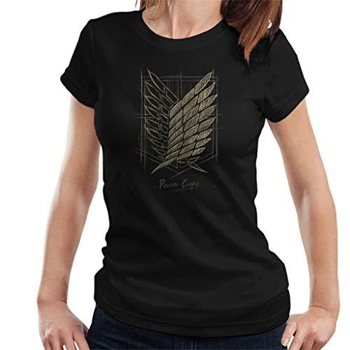 Cloud City 7 Attack on Titan Recon Corps Emblem Sketch Women's T-Shirt