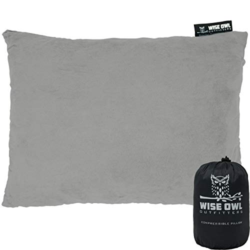 Wise Owl Outfitters Camping Pillow Compressible Foam Pillows – Use When Sleeping in Car, Plane...