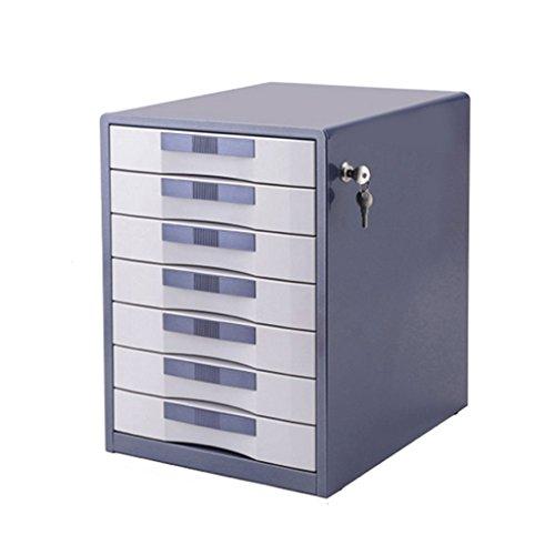 LQ Armarios archivadores 7 Capas con Cerradura de Escritorio Gabinete archivador de Oficina Gabinete de Escritorio Armario Caja de Almacenamiento de Datos carpeta (Color : Blue)