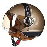 Casco moto donna Chopper 3/4 Open Face Casco vintage Moto Casque Casco Capacete Uomo Scooter Casco...