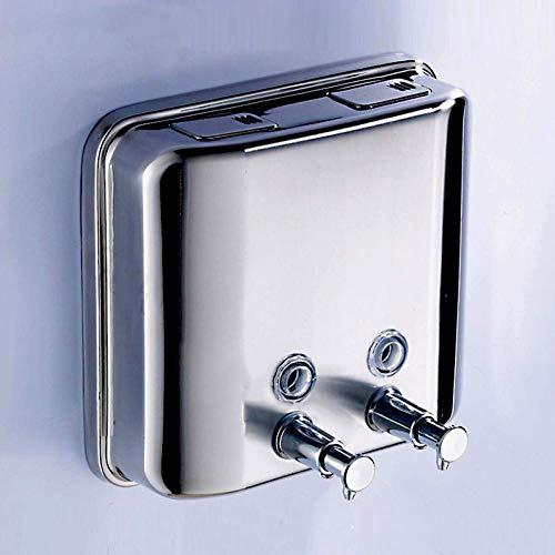 L-YINGZON Jabón de mano dispensador de jabón de acero inoxidable dispensador de 1500 ml de montaje en pared del jabón líquido de plata brillante Bolltle jabón de ahorro Dispensador de detergente Acces