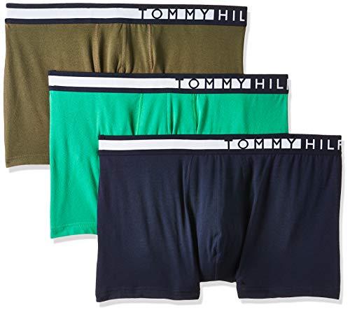Tommy Hilfiger Herren 3p Trunk Boxershorts, Grün (Navy Blazer/Grape Leaf/Jelly Bean), Medium (Herstellergröße:)