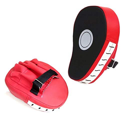 JZK 2 x Rot Handpratzen Kickboxen Boxen Trainerpratzen Schlagpratzen für Muay Thai Kickboxen Bewegung Karate Taekwondo