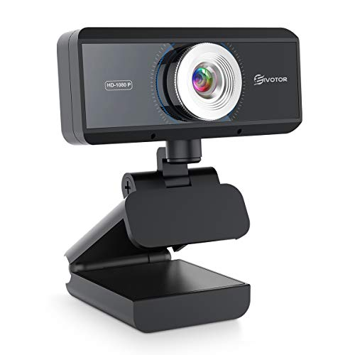 EIVOTOR Full HD Webcam 1080P mit Mikrofon Computer Kamera PC Webcam USB Laptop Streaming Kamera Bussiness Webcam für Konferenz, Zoom, Skype, Google Hangouts, YouTube, Windows, Mac OS, Android
