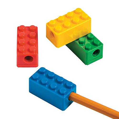 BRICK PENCIL SHARPENER - Stationery - 12 Pieces