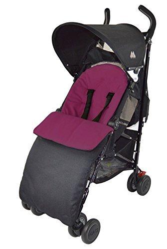 Maclaren Fit saco/acogedor dedos de los pies para cochecito de bebé XT Techno Quest XLR Volo–Color Morado