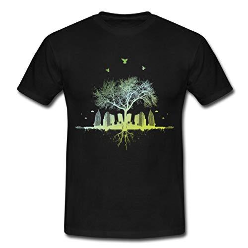 Natur Siegt Urban Gardening Männer T-Shirt, L, Schwarz
