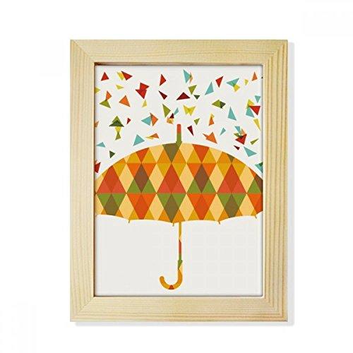 DIYthinker regenscherm weerbestendig drip patroon desktop-hölz-fotolijst fotokunst schilderij passend 15,2 x 20,2 cm (6 x 8 inch) afbeelding meerkleurig