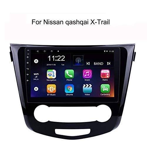 LFEWOZ Nav Dispositivo Android navegación del Coche, Sistema de navegación GPS para Nissan Qashqai/X-Trail con 10,1 Pulgadas de Pantalla táctil con la música de Bluetooth 4g WiFi Soporte para SD 64g