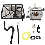 wosume Kit de carburador, reemplazo de Accesorios del Kit de carburador de Aluminio Fundido a presión para Motosierra Stihl 028