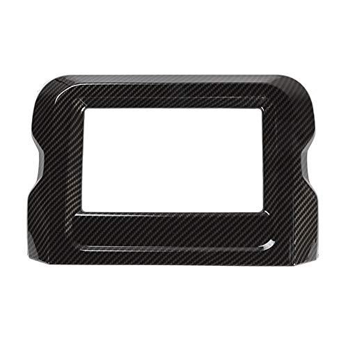 YFQH Molduras interiores ABS para Jeep Wrangler 2018 navegación GPS 7 pulgadas pantalla decoración pegatinas para Jeep Wrangler Jl (nombre de color: fibra de carbono)