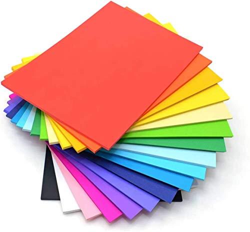 60 feuilles de papier de couleur DIN A4 230g / m² I pour l'artisanat et le design I artisanat stable en carton créatif carton photo I 12 couleurs différentes DIY papier de construction coloré